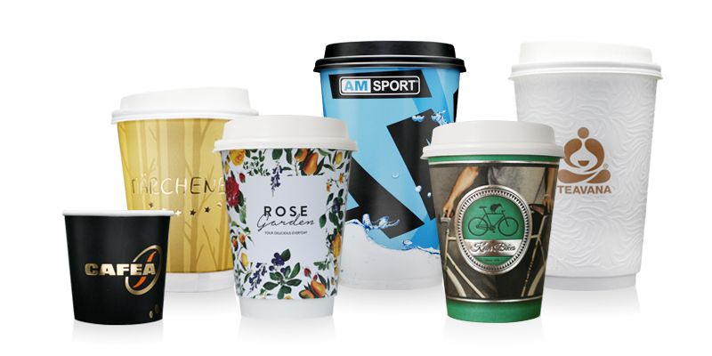 Printed paper cups with your custom design