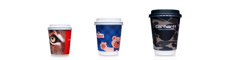 Premium paper cups with offset and digital printing